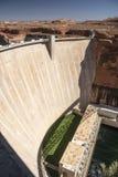 Glen Canyon Dam von Carl Hayden Visitor Centre stockfotografie