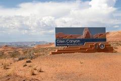 glen canyon krajowego obszaru wypoczynek Obraz Royalty Free