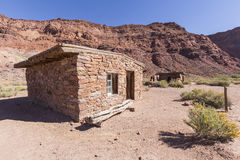 Glen Canyon National Park Historic Lees Ferry Ruins. Historic Lees Ferry buildings near the Colorado River at Glen Canyon National Recreation Area in Arizona Royalty Free Stock Photos