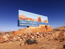 Glen Canyon National Recreation sign Stock Photography