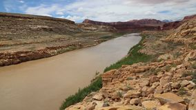 Glen Canyon. Recreation Area in south Utah stock footage