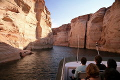 Glen Canyon sjö Powell, Arizona, USA fotografering för bildbyråer