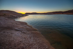 glen canyon w arizonie obszaru krajowego rekreacji jeziora Powell słońca Zdjęcia Royalty Free