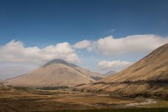 Glen Coe in the Highland of Scotland. Scenic View of Glen Coe in the Highland of Scotland, UK Stock Photo