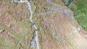 Glen Coe Highlands scotland aerial shot hiking and panorama view stock video