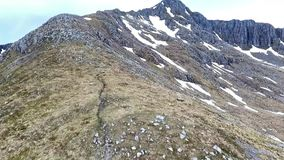 Glen Coe Highlands scotland aerial shot hiking and panorama view stock footage