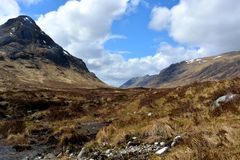 Glen Coe. Mountains in Glen Coe, Scotland Stock Image