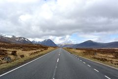 Glen Coe. Road to Glen Coe, Scotland Royalty Free Stock Image