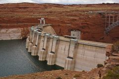 Glen dam in page creating electricity royalty free stock photography