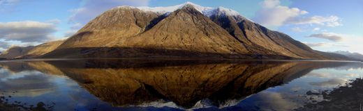 Glen Etive. Snow capped moutain in Glen Etive Royalty Free Stock Images