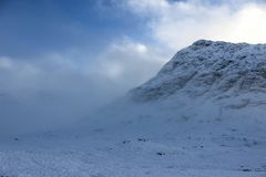 Glen Etive, altopiani scozzesi fotografia stock libera da diritti