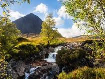 Glen Etive, Buachaille Etive MOR im Glen Coe-Bereich, Schottland stockfotografie