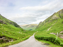 Glen Etive door Glencoe, Schotland Stock Foto