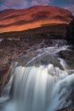 Glen Etive Falls Royaltyfria Foton