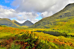 Glen Etive. Landscape looking towards Glencoe in Scotland stock photos