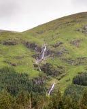 Glen Etive Stream. A stream cascades down the hillside of Glen Etive in the Scottish highlands Royalty Free Stock Photos