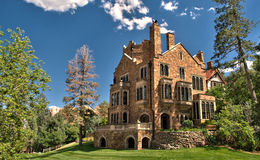Glen Eyrie Castle i Colorado Springs, Colorado Fotografering för Bildbyråer