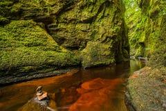 Glen Finnich em Escócia Fotos de Stock