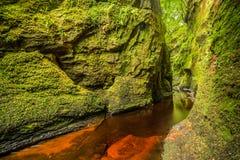Glen Finnich in Schottland stockfotografie
