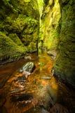 Glen Finnich in Schottland lizenzfreie stockfotografie