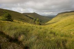 Glen Gesh Pass. Located on County Donegal, Ireland Royalty Free Stock Photo