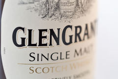 Glen Grant Speyside Single Malt Scotch Whisky bottle closeup Royalty Free Stock Photography