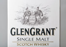 Glen Grant Speyside Single Malt Scotch Whisky box closeup Royalty Free Stock Photos