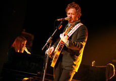 Glen Hansard. Musicians Marketa Irglova  and Glen Hansard (on picture) perform at the concert in Brno on February 2, 2010. Couple started their European tour to Stock Photography