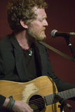 Glen Hansard. This is a picture of Glen Hansard, oscar winner, and from the band The Frames and Swell Season, who played a low key show at The Living Room, ( Royalty Free Stock Photo