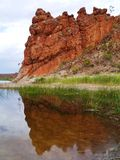 The Glen Helen gorge in the Mcdonnell ranges Stock Images