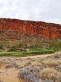 The Glen Helen gorge in the Mcdonnell ranges Royalty Free Stock Images