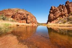 Glen Helen Gorge, Noordelijk Grondgebied, Australië stock fotografie