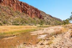 Glen Helen Gorge, Noordelijk Grondgebied, Australië stock foto