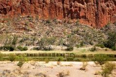 Glen Helen Gorge, Noordelijk Grondgebied, Australië stock afbeeldingen