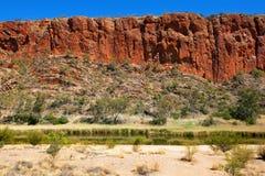 Glen Helen Gorge, Noordelijk Grondgebied, Australië royalty-vrije stock afbeeldingen