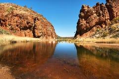 Glen Helen Gorge, Noordelijk Grondgebied, Australië royalty-vrije stock foto's