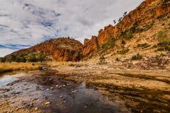 Glen Helen Gorge, Nordterritorium, Australien stockbild