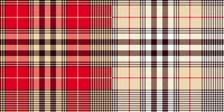 Glen or houndstooth plaid pattern vector illustration
