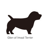 Glen of Imaal Terrier dog silhouette, side view, vector illustr Royalty Free Stock Images