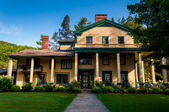 Glen Iris Inn, no parque estadual de Letchworth, NY imagem de stock