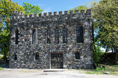 Glen Island Castle. An old sea castle at Glen Island park and marina in New Rochelle, Ny Stock Photo