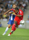 Glen Johnson. Of Liverpool FC in action during a friendly match against RCD Espanyol at the Estadi Cornella-El Prat on August 2, 2009 in Barcelona, Spain Stock Photography