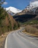 Glen Lochy Road lizenzfreie stockbilder