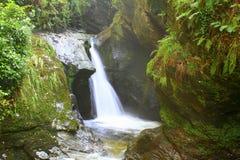 Glen Maye-Wasserfall, Isle of Man lizenzfreies stockfoto
