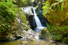 Glen Maye Waterfall in the Isle of Man Royalty Free Stock Photography
