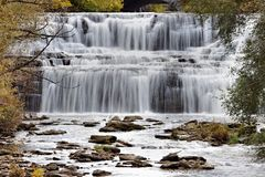 Glen Park Falls Fotografía de archivo libre de regalías