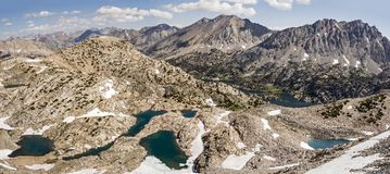 Glen Pass Northern Panorama, Kings Canyon National Park royalty free stock photos