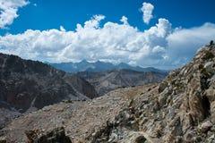 Glen Pass op John Muir Trail royalty-vrije stock afbeelding