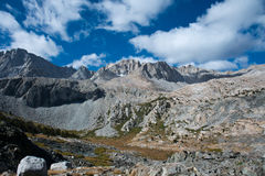 Glen Pass op John Muir Trail Royalty-vrije Stock Foto