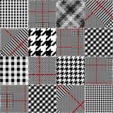 Glen Plaid pattern. Stock Photography